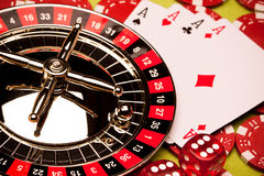 Concepto de la ruleta del casino fotos de archivo