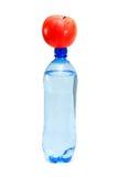 Concepto de la salud con la botella Foto de archivo