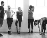 Concepto de la salud de la aptitud del ejercicio del entrenamiento fotos de archivo