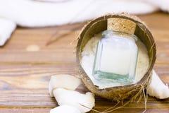 Concepto de la salud del balneario del coco imagen de archivo