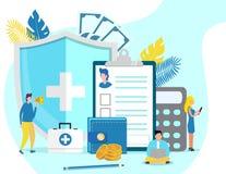 Concepto de la salud de hipotensi?n y de hipertensi?n stock de ilustración