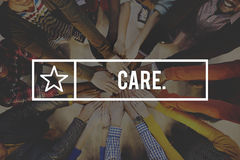 Concepto de la salvaguardia de la atención de la protección de la garantía del cuidado Imagen de archivo