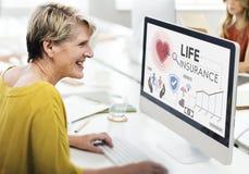 Concepto de la salvaguardia del beneficiario de la protección del seguro de vida fotos de archivo libres de regalías