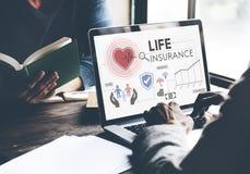 Concepto de la salvaguardia del beneficiario de la protección del seguro de vida imagen de archivo