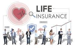 Concepto de la salvaguardia del beneficiario de la protección del seguro de vida Imagen de archivo libre de regalías