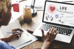 Concepto de la salvaguardia del beneficiario de la protección del seguro de vida fotografía de archivo libre de regalías