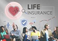 Concepto de la salvaguardia del beneficiario de la protección del seguro de vida fotos de archivo