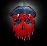 Concepto de la sangre del vampiro stock de ilustración