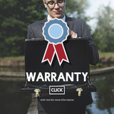 Concepto de la satisfacción de la garantía del control de calidad de la garantía Fotografía de archivo libre de regalías