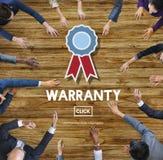 Concepto de la satisfacción de la garantía del control de calidad de la garantía Imágenes de archivo libres de regalías