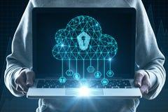 Concepto de la seguridad de la computación y de Internet de la nube imágenes de archivo libres de regalías