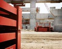 Concepto de la seguridad de Building Construction Engineer del arquitecto Fotografía de archivo