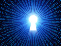 Concepto de la seguridad de datos stock de ilustración