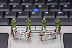 Concepto de la seguridad de datos del ordenador Fotos de archivo libres de regalías