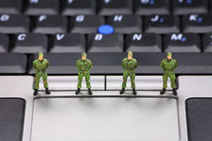 Concepto de la seguridad de datos del ordenador Imagen de archivo