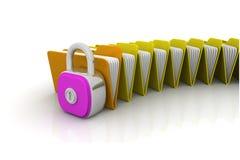 Concepto de la seguridad de la carpeta Fotografía de archivo libre de regalías