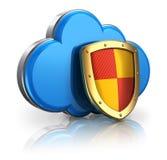 Concepto de la seguridad de la computación y del almacenaje de la nube