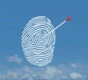 Concepto de la seguridad de la identidad ilustración del vector