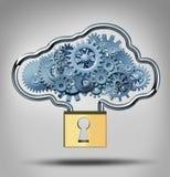 Concepto de la seguridad de la nube Fotos de archivo libres de regalías