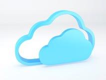 Concepto de la seguridad de la nube blanco Fotos de archivo