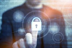 Concepto de la seguridad de la red fotografía de archivo libre de regalías