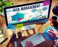 Concepto de la seguridad de la seguridad del control de gestión de riesgos Foto de archivo libre de regalías