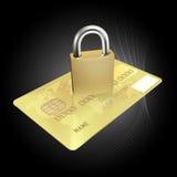 Concepto de la seguridad de la tarjeta de crédito Foto de archivo libre de regalías