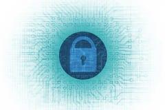 Concepto de la seguridad de la tecnología ilustración del vector