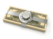 Concepto de la seguridad de las finanzas foto de archivo