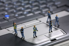 Concepto de la seguridad de ordenador Fotos de archivo