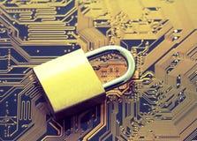 Concepto de la seguridad de ordenador imágenes de archivo libres de regalías