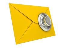 Concepto de la seguridad del correo Imagen de archivo