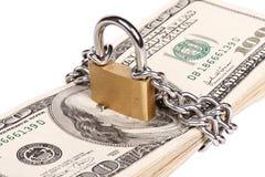 Concepto de la seguridad del dinero Fotografía de archivo libre de regalías