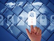 Concepto de la seguridad del Internet Fotos de archivo libres de regalías