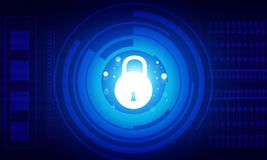 Concepto de la seguridad del Internet Foto de archivo libre de regalías