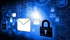 Concepto de la seguridad del Internet Fotografía de archivo