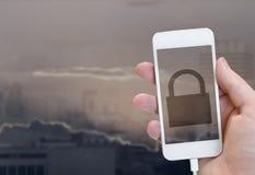 Concepto de la seguridad del Internet Imagen de archivo libre de regalías
