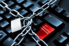 Concepto de la seguridad del Internet Imagen de archivo