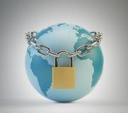 Concepto de la seguridad del mundo Foto de archivo libre de regalías