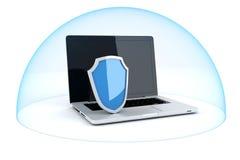 concepto de la seguridad del ordenador 3d