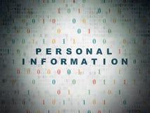Concepto de la seguridad: Información personal sobre el papel Fotografía de archivo libre de regalías