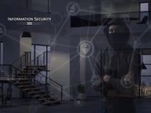 Concepto de la seguridad de información Proteja su información personal libre illustration