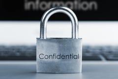 Concepto de la seguridad informática Imagen de archivo libre de regalías
