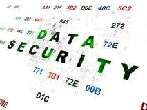 Concepto de la seguridad: Seguridad de datos en Digitaces Foto de archivo libre de regalías