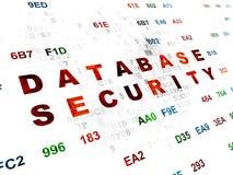 Concepto de la seguridad: Seguridad de la base de datos en Digitaces Fotos de archivo