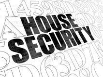 Concepto de la seguridad: Seguridad de la casa en Digitaces Fotografía de archivo libre de regalías