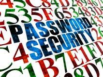 Concepto de la seguridad: Seguridad de la contraseña en Digitaces Imagenes de archivo