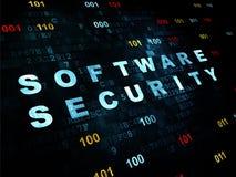 Concepto de la seguridad: Seguridad del software en Digitaces Fotografía de archivo libre de regalías