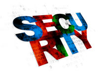 Concepto de la seguridad: Seguridad en el fondo de Digitaces Fotos de archivo libres de regalías