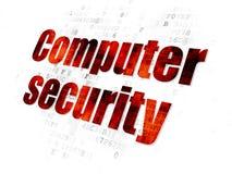 Concepto de la seguridad: Seguridad informática en Digitaces Foto de archivo libre de regalías